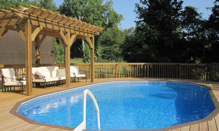 Pool Deck Is a Great Addition to Above Ground Pools