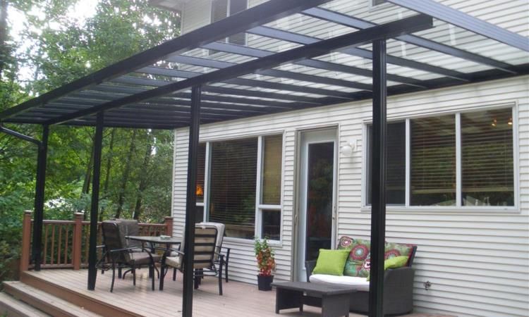 glass and Metal Patio Cover Designs